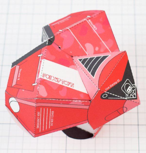 PTI - Love Starship Paper Toy Heart - Image Main square
