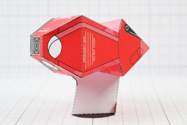 PTI - Love Starship Paper Toy Heart - Image Side