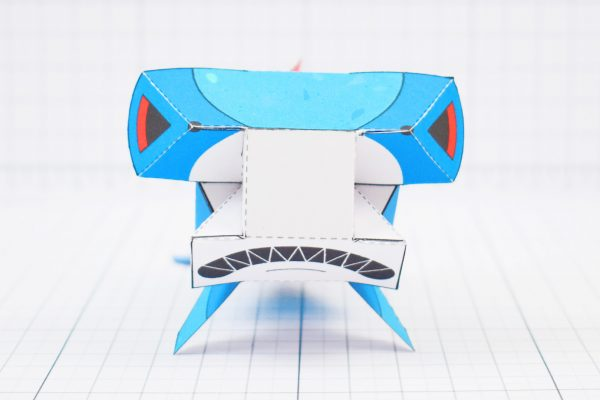 PTI- Sea Search Shark Robot Paper Toy Craft Model - Image Front