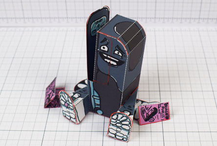 THU - Broken Pencil - Staple Stanley Paper Toy - Image Thumbnail