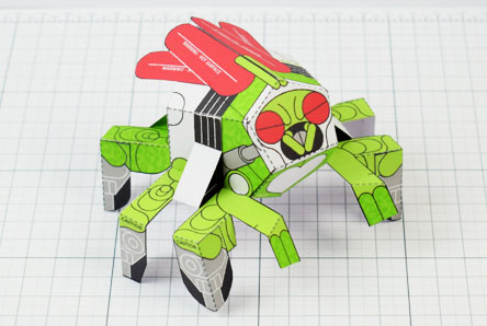 THU - Doubt Fly Monster Paper Toy Bug Insect - Image Thumbnail