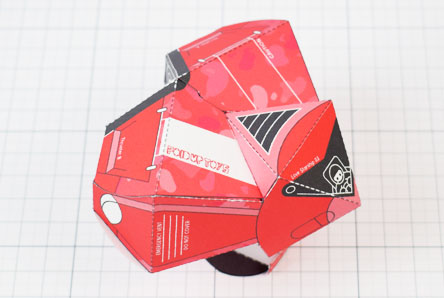 THU - Love Starship Paper Toy Heart - Image Thumbnail