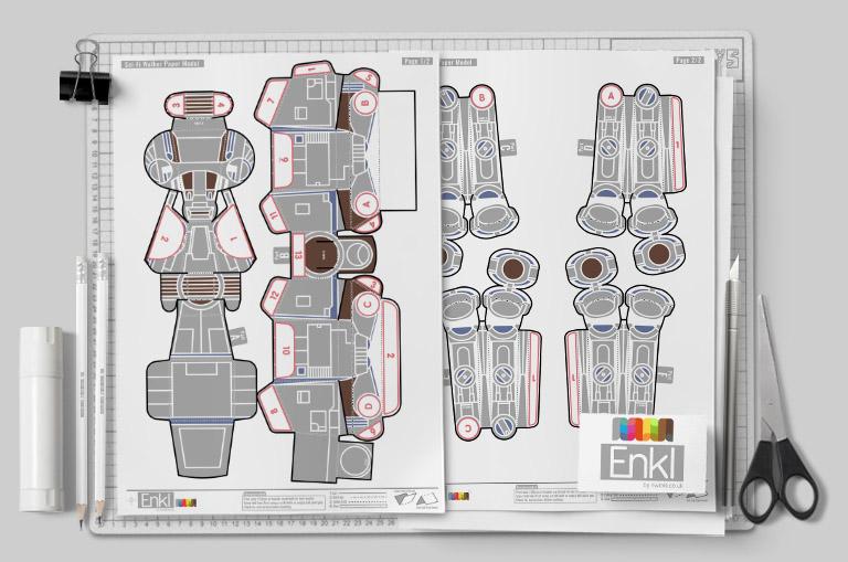 MU - ENKL Sci Fi Walker Star Wars ATAT - Mockup