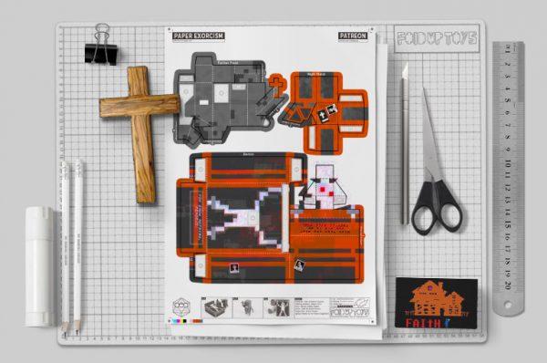 MU - Faith exorcism exorcist Paper Toy Image -Mockup 2