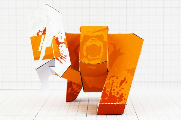 PTI - Ape Out Game Fan Art Paper Toy Image - 8