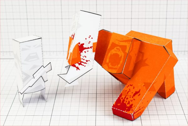 PTI - Ape Out Game Fan Art Paper Toy Image - Main