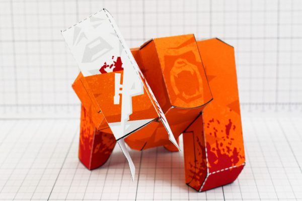 PTI - Ape Out Game Fan Art Paper Toy Image - Scream