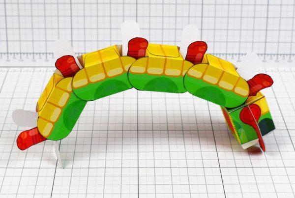 PTI - Centipede Game Paper Toy Craft Monster Bug Image - Back