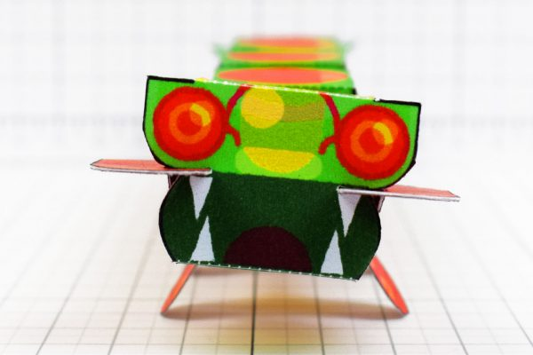 PTI - Centipede Game Paper Toy Craft Monster Bug Image - Face