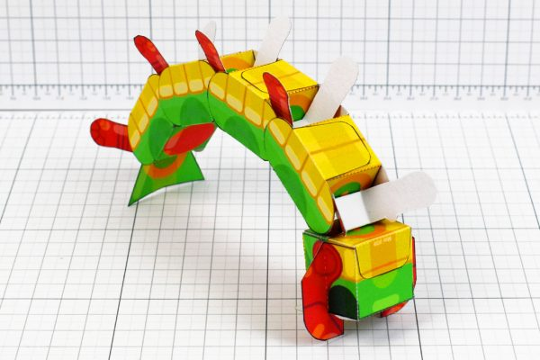 PTI - Centipede Game Paper Toy Craft Monster Bug Image - Flip