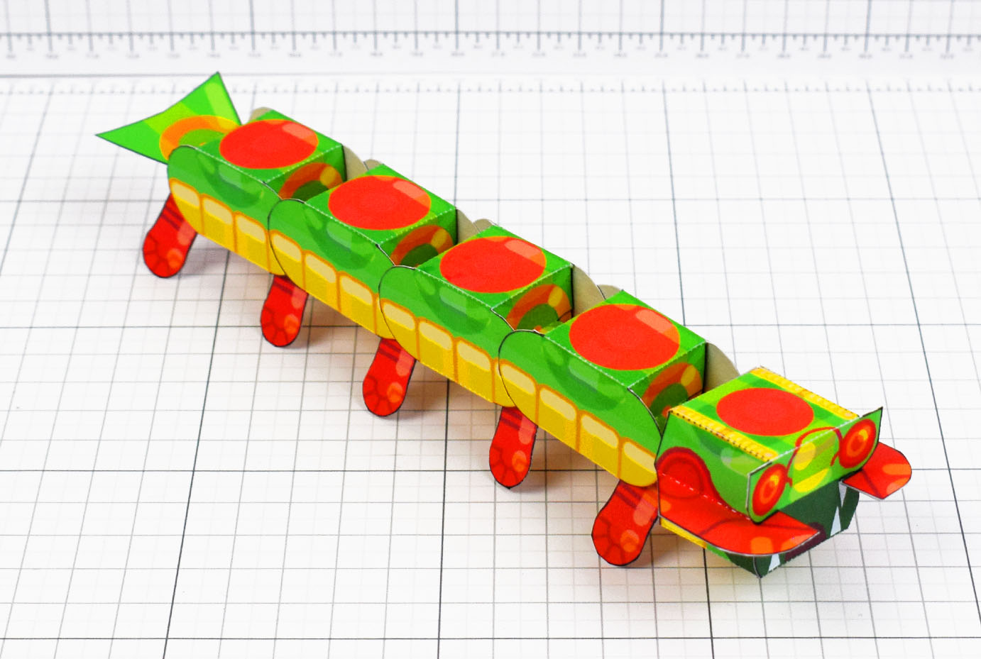 PTI - Centipede Game Paper Toy Craft Monster Bug Image - Main