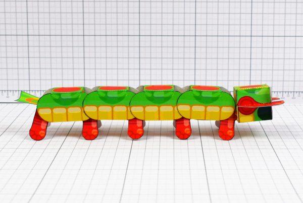 PTI - Centipede Game Paper Toy Craft Monster Bug Image - Side
