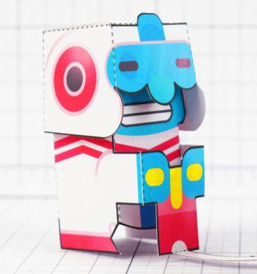 PTI - Dig Dug Boom Nintendo Paper Toy Craft Fan Art image - Dig