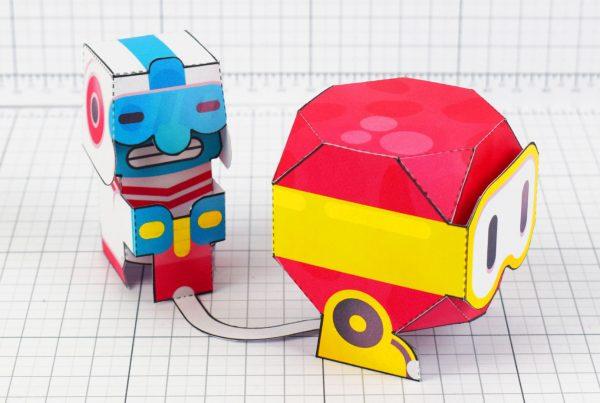PTI - Dig Dug Boom Nintendo Paper Toy Craft Fan Art image - Main