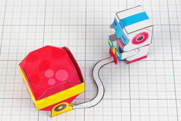 PTI - Dig Dug Boom Nintendo Paper Toy Craft Fan Art image - above