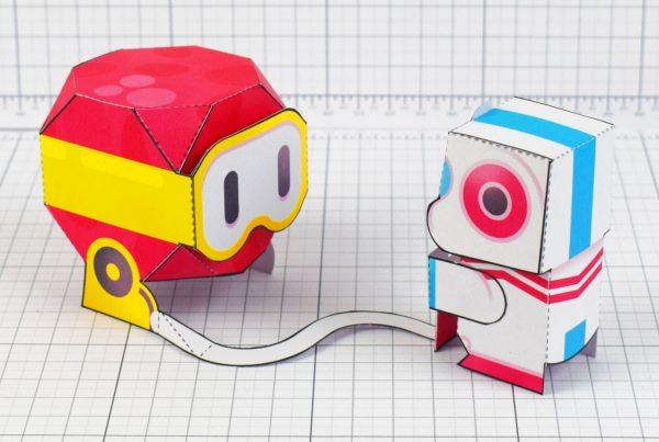 PTI - Dig Dug Boom Nintendo Paper Toy Craft Fan Art image - dug