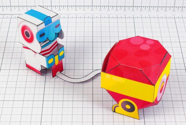 PTI - Dig Dug Boom Nintendo Paper Toy Craft Fan Art image - top
