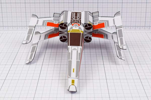 PTI - ENKL Twinkl Star Wars X wing paper toy image - Front