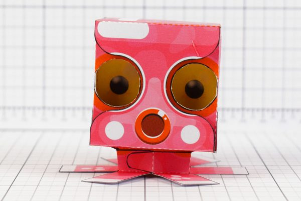 PTI - Eye Following Squid Paper Toy Optical Illusion Image - Front