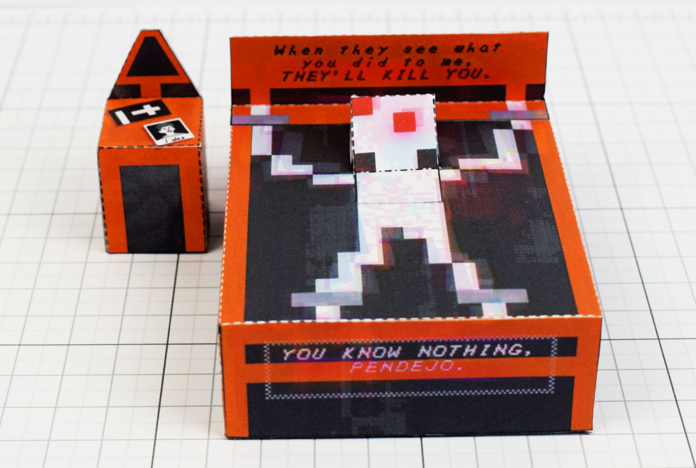 Paper Exorcism (Faith Fan Art) – Fold Up Toys