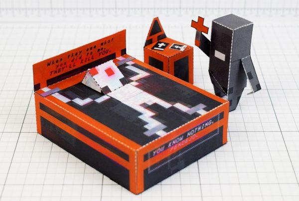 PTI - Faith exorcism exorcist Paper Toy Image - Main
