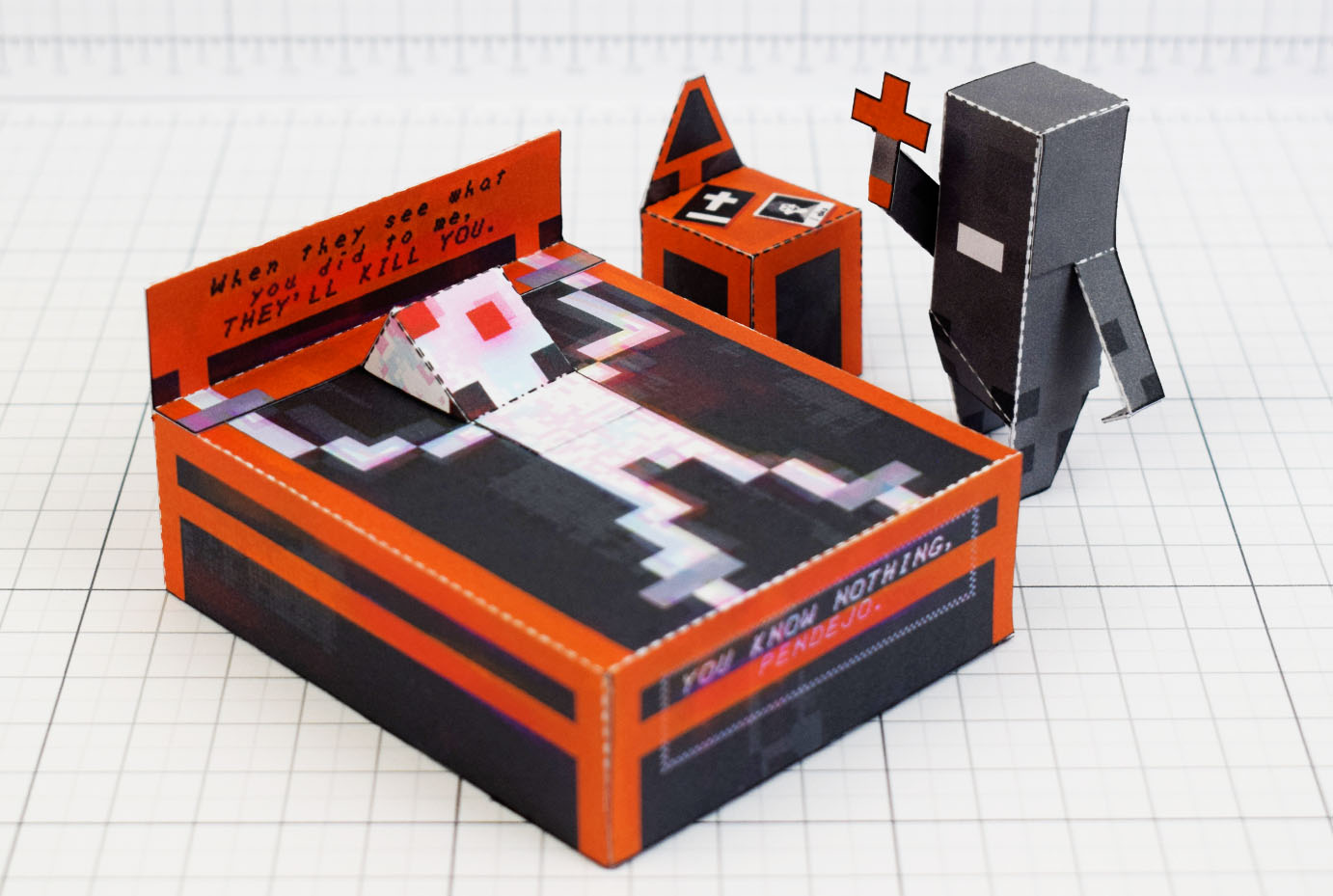PTI - Faith exorcism exorcist Paper Toy Image - Main