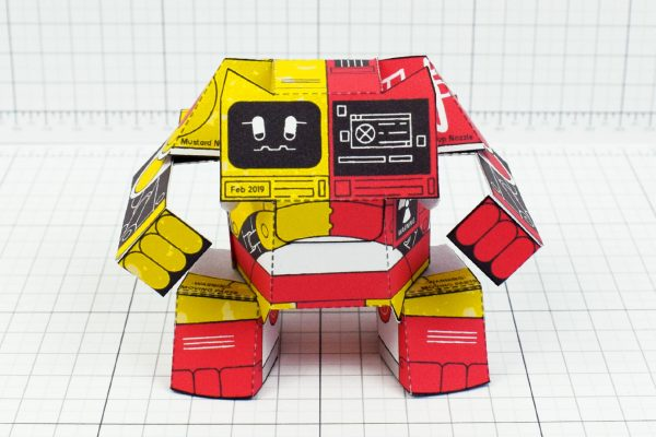 PTI- Ketchup and Mustard Robot Paper Toy Image - Front