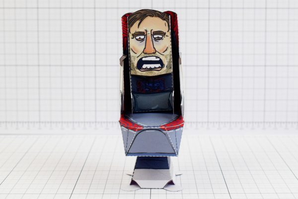 PTI - Pewdiepie Chair Launcher Paper Toy Craft Texture - Image Front