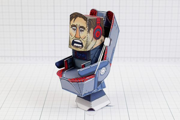 PTI - Pewdiepie Chair Launcher Paper Toy Craft Texture - Image Main
