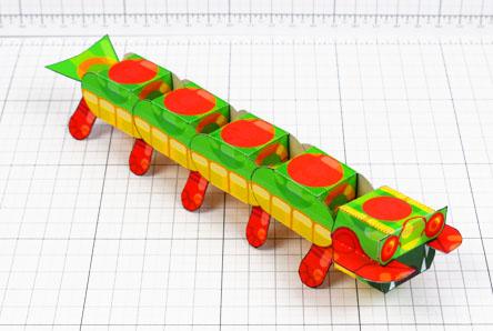 THU - Centipede Game Paper Toy Craft Monster Bug Image - Thumbnail