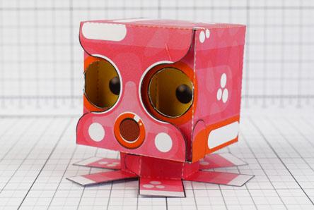 THU - Eye Following Squid Paper Toy Optical Illusion Image - Thumbnail