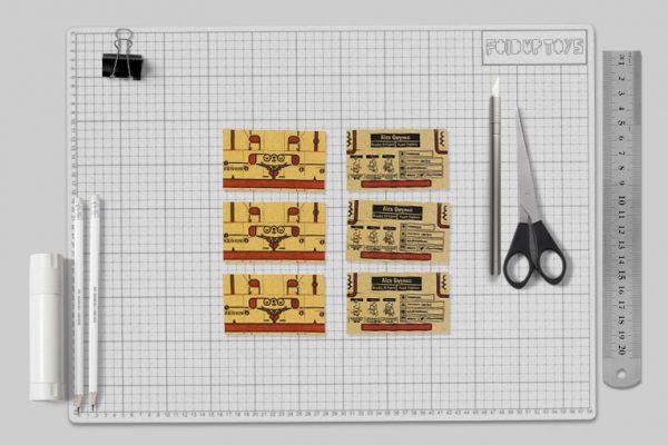 MU - Business Card Paper Toy Craft Dog Google - Mockup2