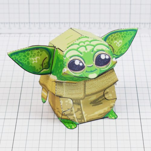 PTI - Baby Yoda Star Wars Mandalorian Paper Toy Photo - Square