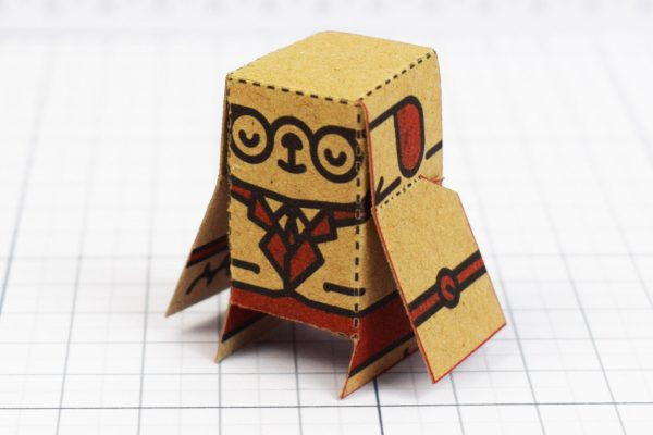 PTI - Business Card Paper Toy Craft Dog Google - 5