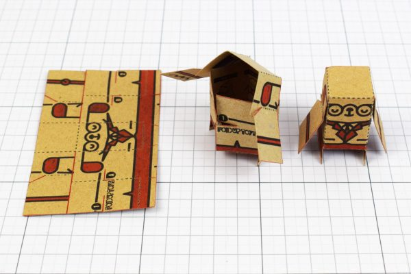 PTI - Business Card Paper Toy Craft Dog Google - 6