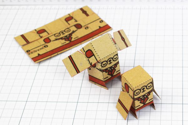 PTI - Business Card Paper Toy Craft Dog Google - 7