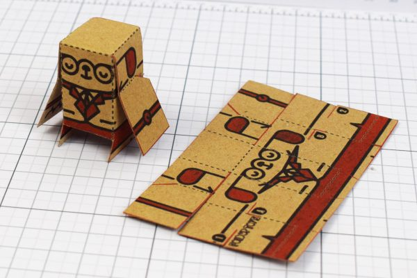 PTI - Business Card Paper Toy Craft Dog Google - 8