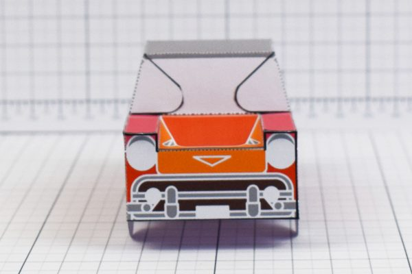 PTI - Enkl Twinkl Vintage Car paper toy craft model - Red Front