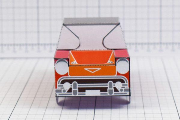 PTI - Enkl Twinkl Vintage Car paper toy craft model - Red Front