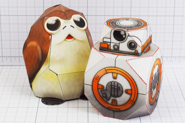 PTI - Square Star Wars BB-8 and Prog Preview Paper Toy