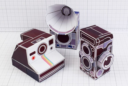 THU - ENKL Twinkl Vintage Camera Paper Toy Craft Models photo - Thumbnail