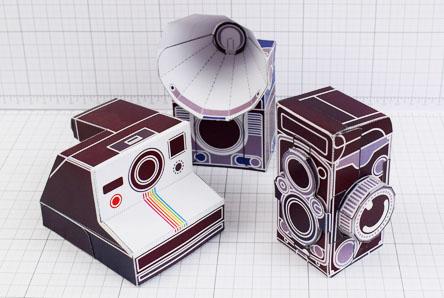 THU - ENKL Twinkl Vintage Camera Paper Toy Craft Models photo - Thumbnail