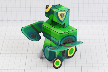 THU - Martain Mantis paper toy photo - Thumbnail