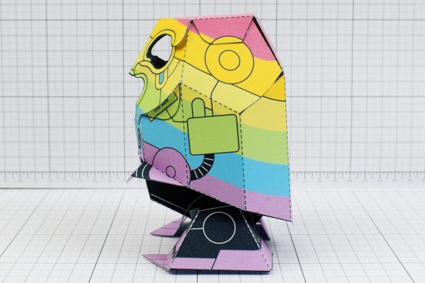 PTI-Gaysper Pride paper toy rainbow ghost robot photo image - 3