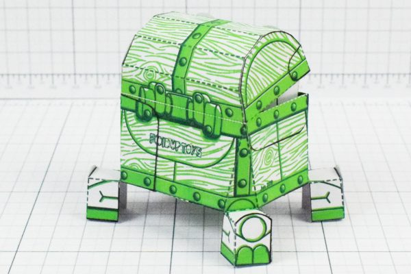 PTI - Malicious Mimic Dungeon Paper Toy Craft Image - Back