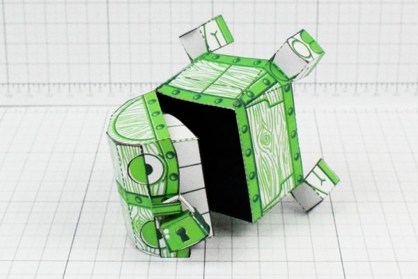 PTI - Malicious Mimic Dungeon Paper Toy Craft Image - Fall