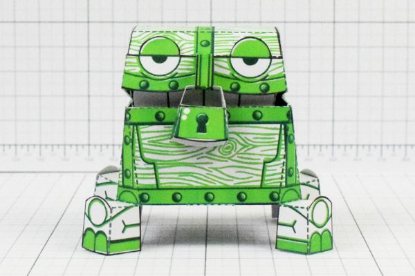 PTI - Malicious Mimic Dungeon Paper Toy Craft Image - Front