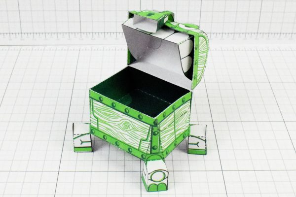 PTI - Malicious Mimic Dungeon Paper Toy Craft Image - Top