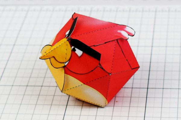PTI - Angry Birds Promotional Paper Toy Image - Sit