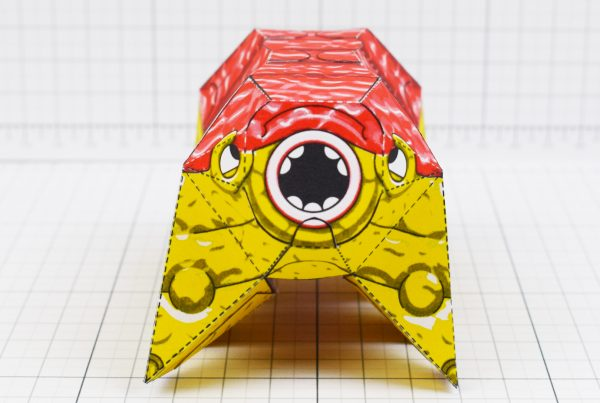 PTI - Squishy Brain Beast Monster Alien Paper Toy Image - Front